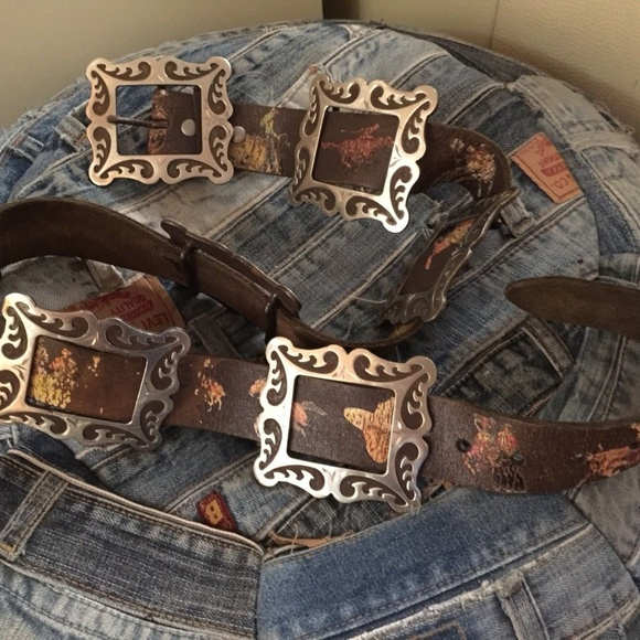 Cowboy Belt Decor Western Concho Rockabilly